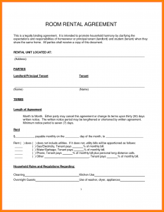simple month to month rental agreement room rental agreement simple rental agreement template simple room rental agreement template