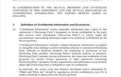 simple non disclosure agreement pdf document for non disclosure agreement