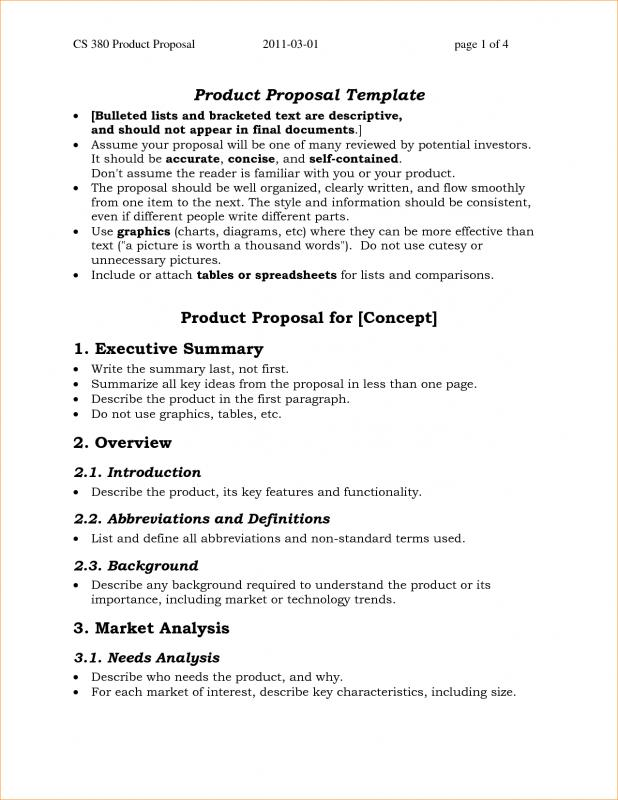 simple one page business plan template