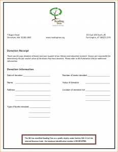 simple one page rental agreement non profit donation receipt template