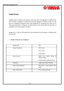 simple order form a project report on customer satisfaction of two wheelers industries with special reference to yamaha motors