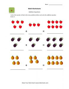 simple order form simple addition worksheets with pictures