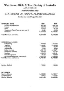 simple profit and loss statement wts australia financial performance