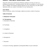 simple profit and loss template simple business plan template free basic business plan template capinpt dyugzw