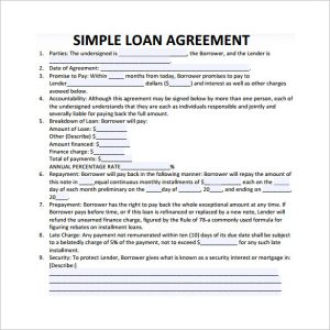 simple promissory note no interest simple loan contract template
