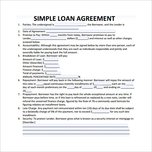 simple promissory note no interest