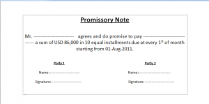 simple promissory note promissory note