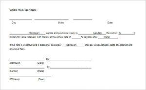 simple promissory note simple blank promissory note template word doc