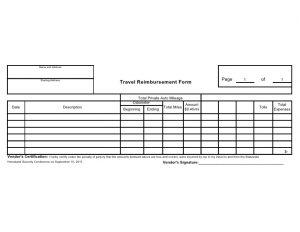 simple reimbursement form vendor travel reimbursement form