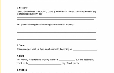 simple rental agreement form agreement templates very simple rental agreement template example in doc with points and blank fillable space for information
