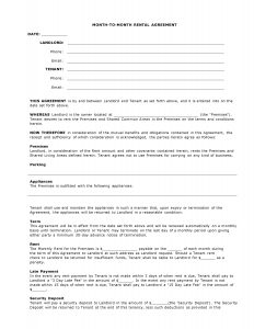 simple rental agreement month to month arizona month to month agreement form