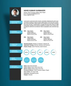 simple resume cover letter examples free simple resume cv design template psd file
