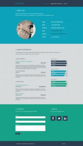 simple resume cover letter examples resume flat web design
