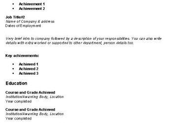 simple resume examples simple resume sample 1