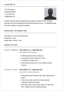 simple resume format in word basic resume template for app developer
