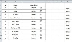 simple sign in sheet completetable