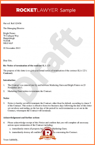 simple termination letter termination of contract letter letter ending a contract