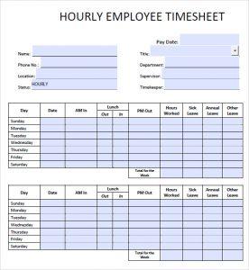 simple timesheet template hourly timesheet template