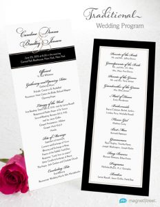 simple wedding ceremony outline wedding program wording traditional