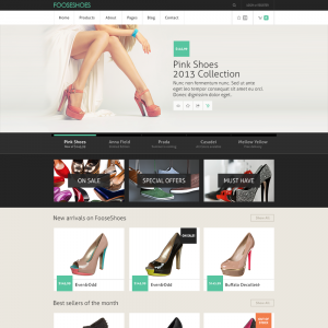 single page web templates fooseshoes ecommerce psd template
