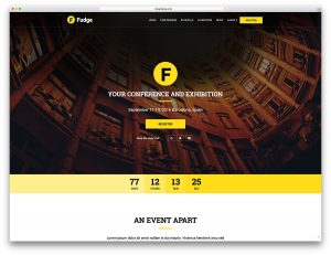 single page web templates fudge simple event website template for wp
