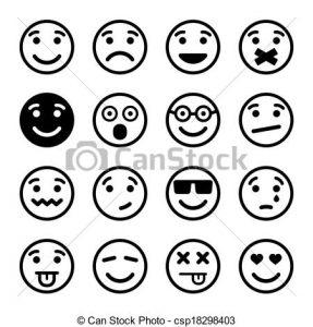 smiley face icon can stock photo csp