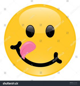 smiley face icon stock photo image version of yummy or teasing smiley