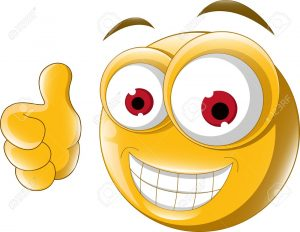 smiley face icon thumb up emoticon for you design royalty free cliparts vectors