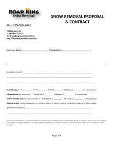 snow plow contract snow removal contract template websitein snow removal invoice