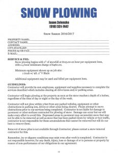 snow removal contract contractscan web