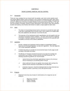 snow removal contract snow removal contract template