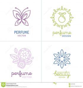 soap label template vector set perfume cosmetics logo design templates icons natural organic concepts