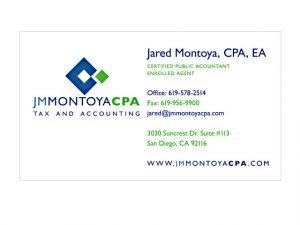 social media business card tax accountant business cards