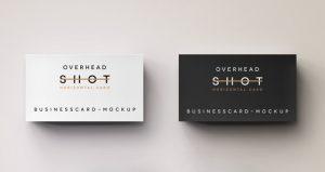 social media business cards business card mockup overhead shot psd