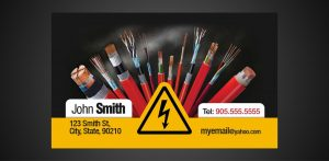 social media business cards business card electrician x