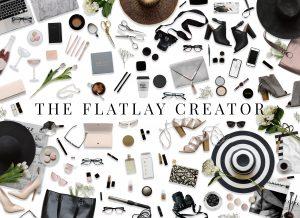 social media business cards flatlay creator