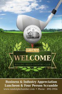 social media business cards golf poster