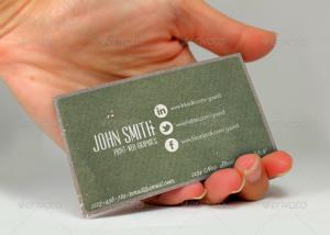 social media cards vintage social network business card