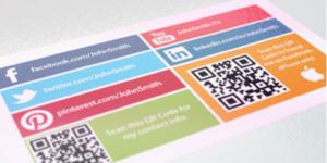 social media cards social media business cards design