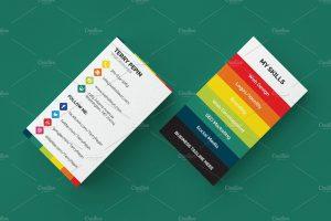 social media cards social media individual business card