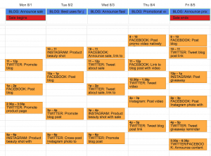 social media marketing plan sample social media editorial calendar
