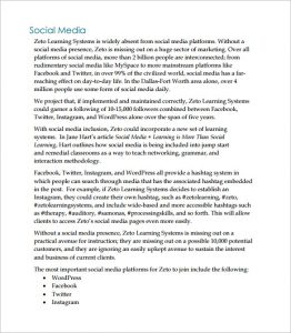 social media marketing proposal social media marketing proposal pdf