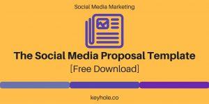 social media proposal header social media proposal template