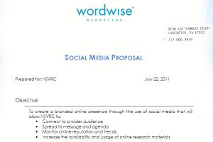 social media proposal social media proposal template
