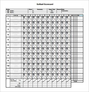 softball score sheet blank softball score sheet