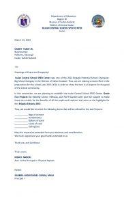 solicitation letter sample slide
