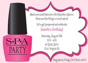 spa party invitations il fullxfull