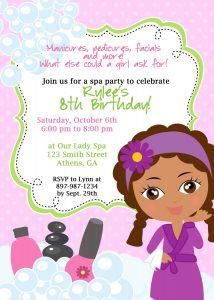 spa party invitations il fullxfull tuf