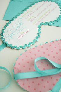 spa party invitations stellasinvites