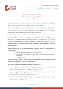 standard operating procedure examples logistics cluster mozambique floods sops